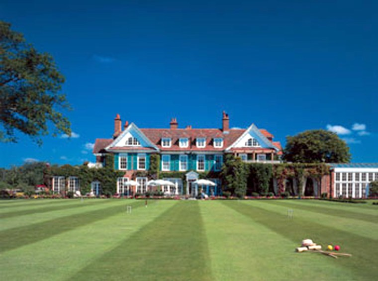 The most striking view of the main house is from the croquet lawn.