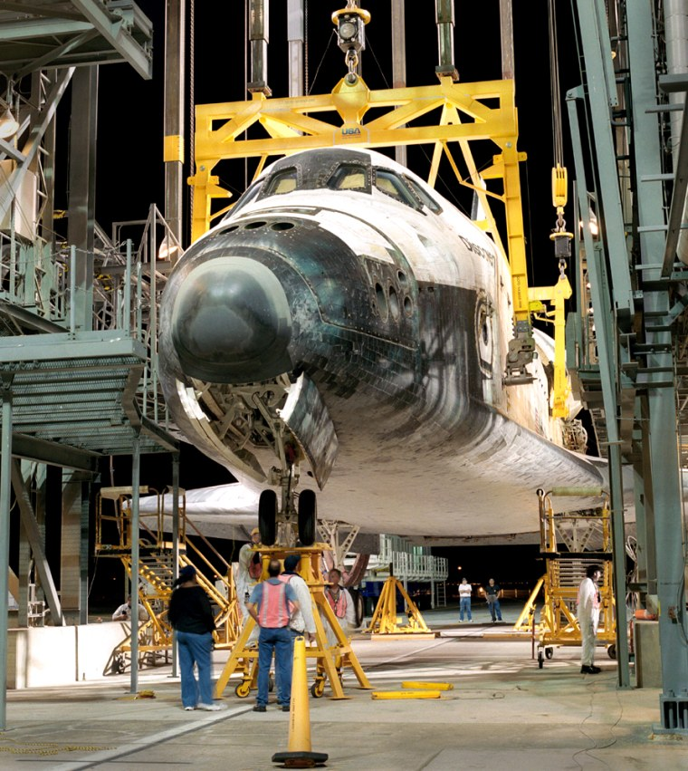 Shuttle Discovery Serviced Before Flight Back To Florida