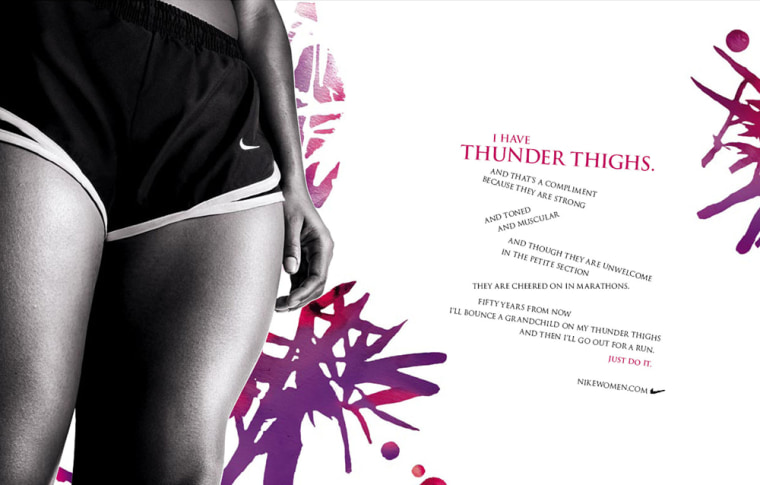 """New ads by Nike feature""""Big Butts"""" and """"Thunder Thighs."""""""