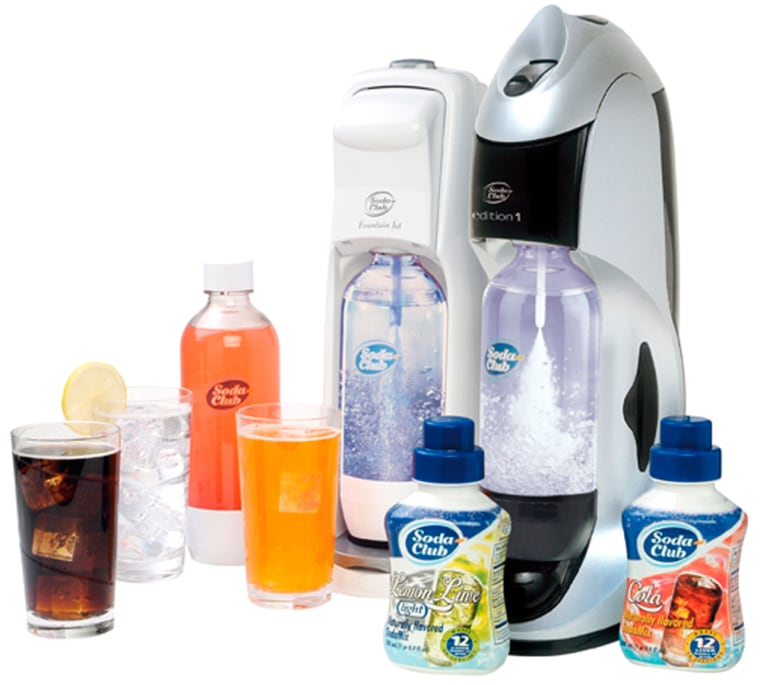 Whether it'sseltzer or soda pop, Soda Club's system is easy to use.