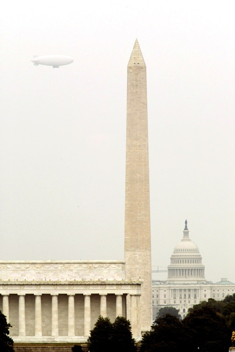 Defense Department Security Blimp Does Test Flight Over WashingtonDefense Department Security Blimp Does Test Flight Over Washington