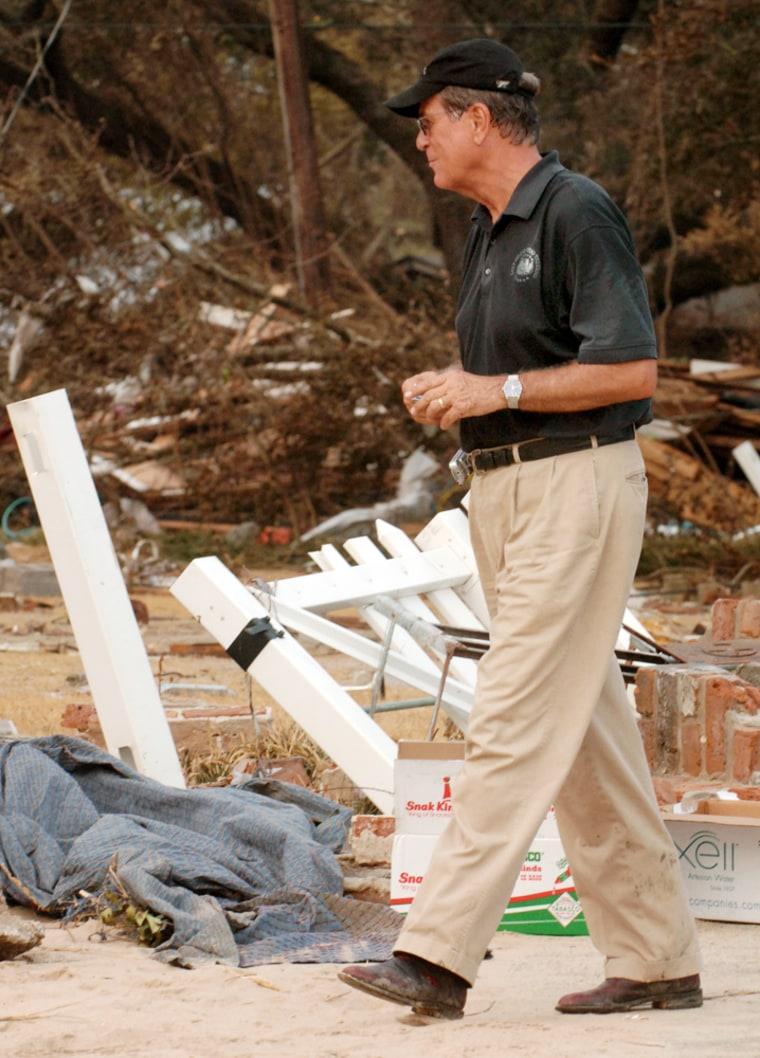 9/1/05. Devastation in Mississippi After Katrina's Hit
