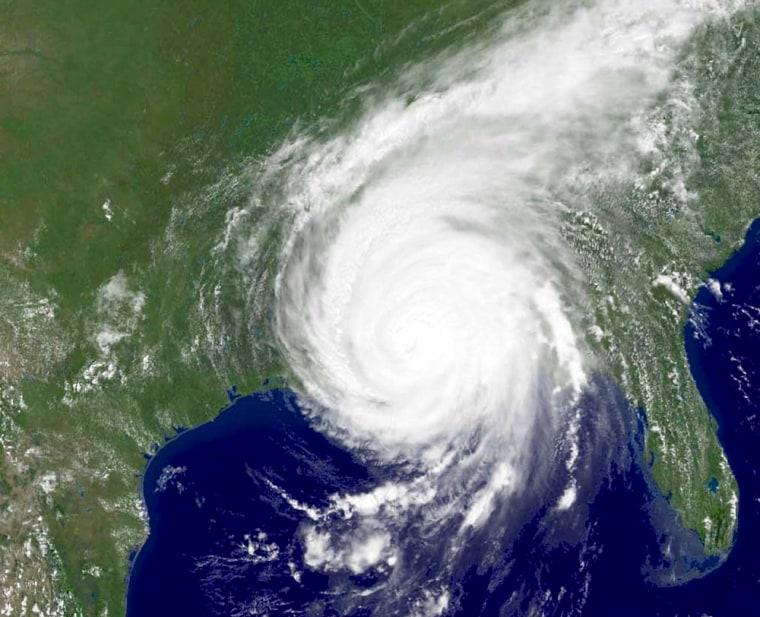 NOAA satellite image of Hurricane Katrina