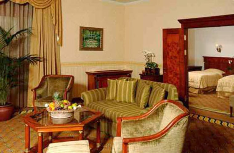 Guest room: A suite at the Polus Palace.