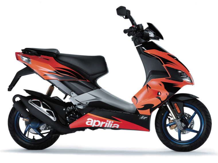Increasing gas prices are making scooters, like the Aprilia SR50 DiTech, popular choices as second vehicles.