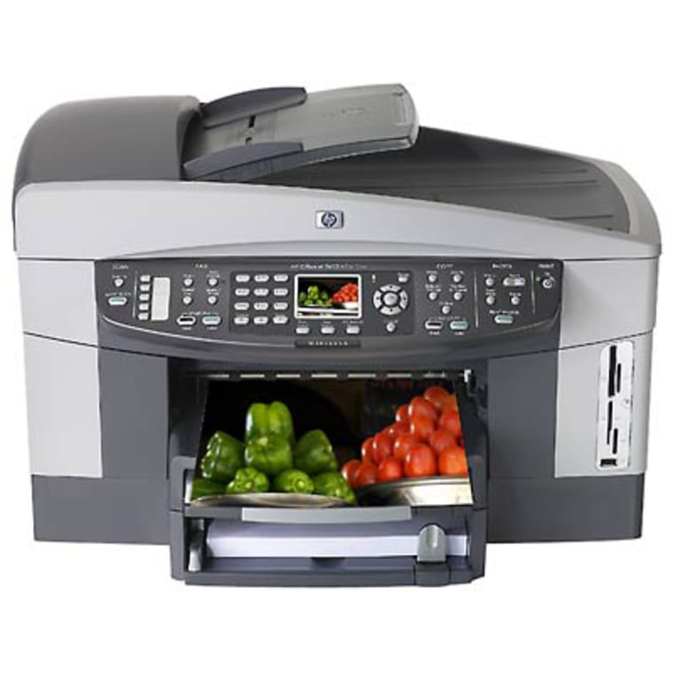 H-P's Office Jet 7410 isin the upper price range of popular all-in-one printer/fax/scaner machines.