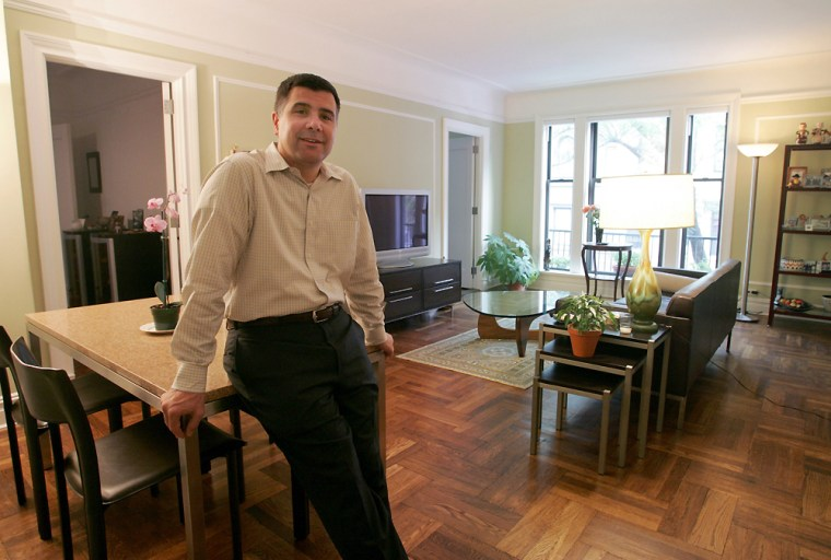 Frank Fazio stands in his two-bedroom, one-bathroom apartment on the Upper West Side of New York on Sept. 23. He purchased the apartment three months ago for almost one million dollars.