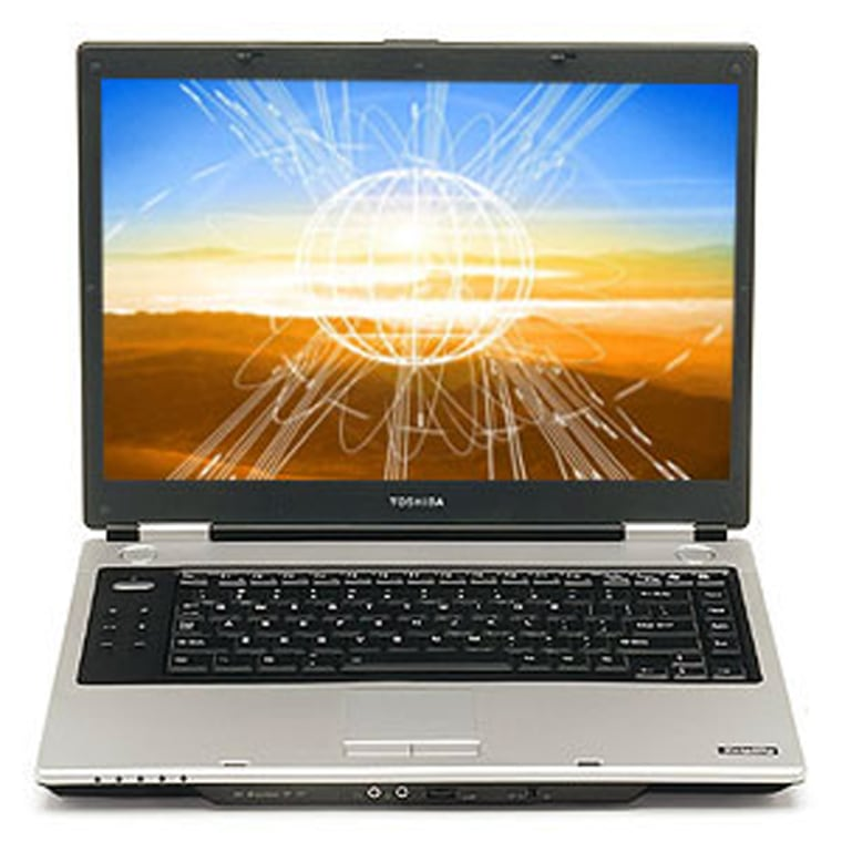 """""""Desktop replacements,"""" such as this Toshiba Satellite M45-S359 offer the functionality of desktop machines but with the portability of a laptop."""