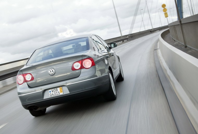 The new Volkswagen Passat, launched in the United States in late July, includes LEDs in its brake, position and turn signal lights.