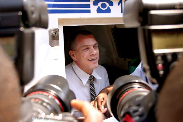 Mark Scott-Crossley outside the court in Phalaborwa, South Africa after his sentencing onFriday.