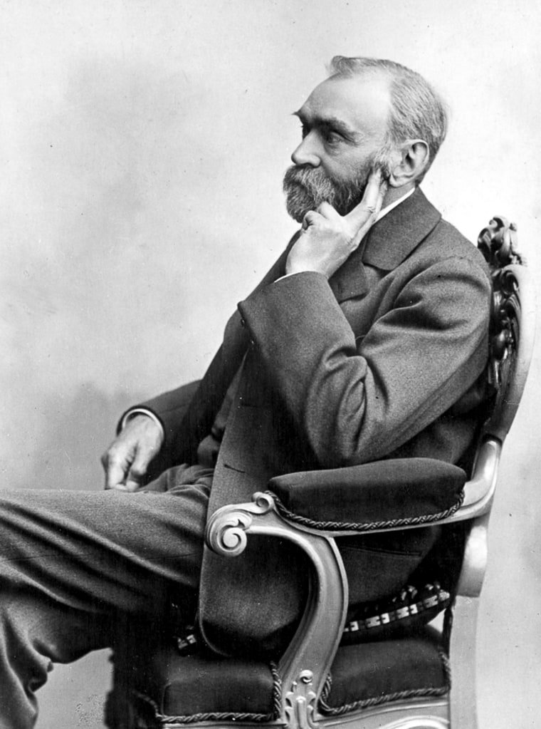 An undated file photo of Swedish industrialist Alfred Nobel. The Swedish inventor of dynamite who founded the Nobel prizes left vague instructions in his will 110 years ago on who should win. Bookmakers are having a field day floating names of prospects for this year's awards.