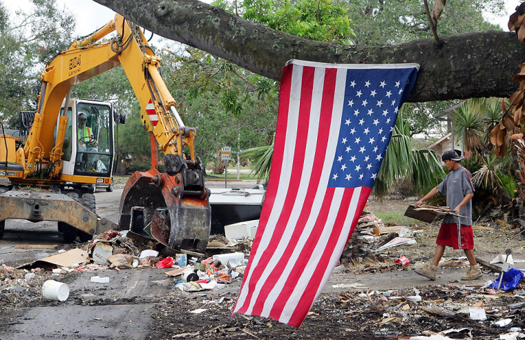 Clean Up Continues In Storm-Ravaged New Orleans