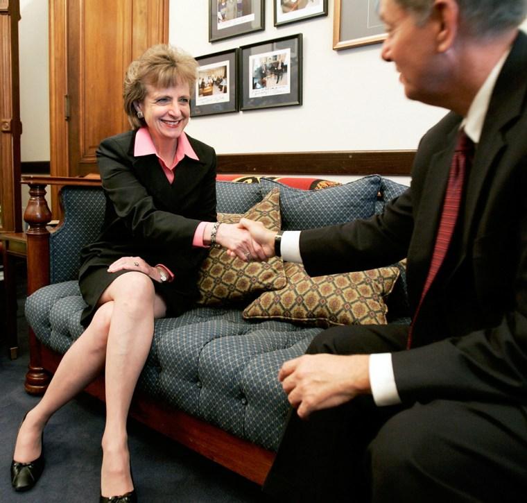 Supreme Court Nominee Harriet Miers Visits Lawmakers