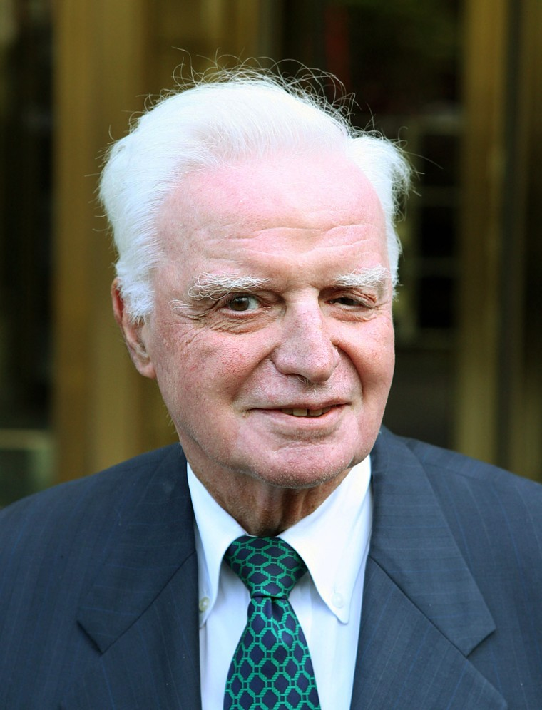 John Rigas, former CEO of Adelphia, exits the courthouse in New york