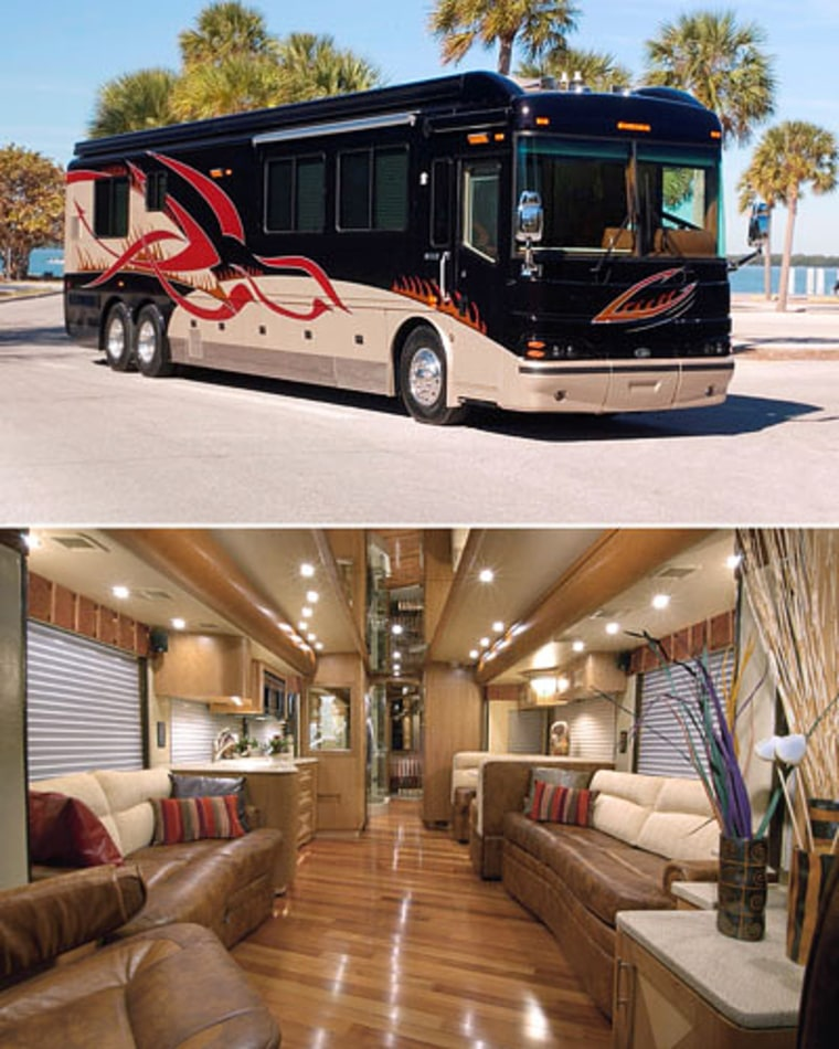 The Blue Bird Wanderlodge 450 LXi is nearly 44-feet long — the size of three SUVs — and has a price tag of $774,613.