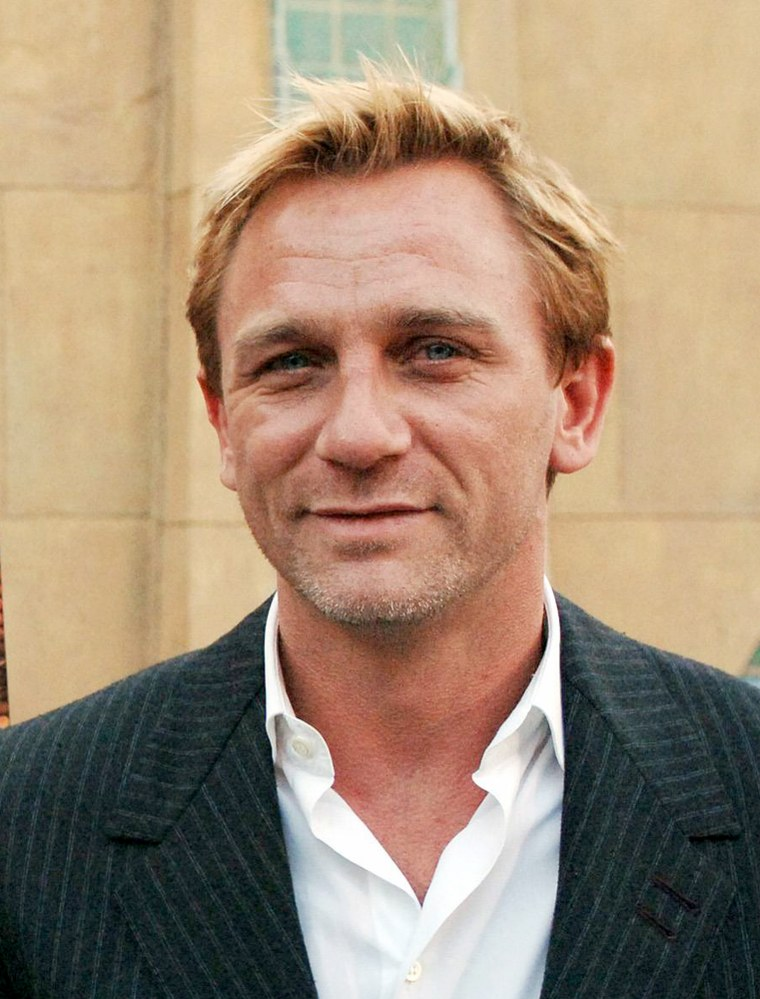 """File photo of star of crime thriller \""""Layer Cake\"""" Daniel Craig arriving for the premiere in Los Angeles"""