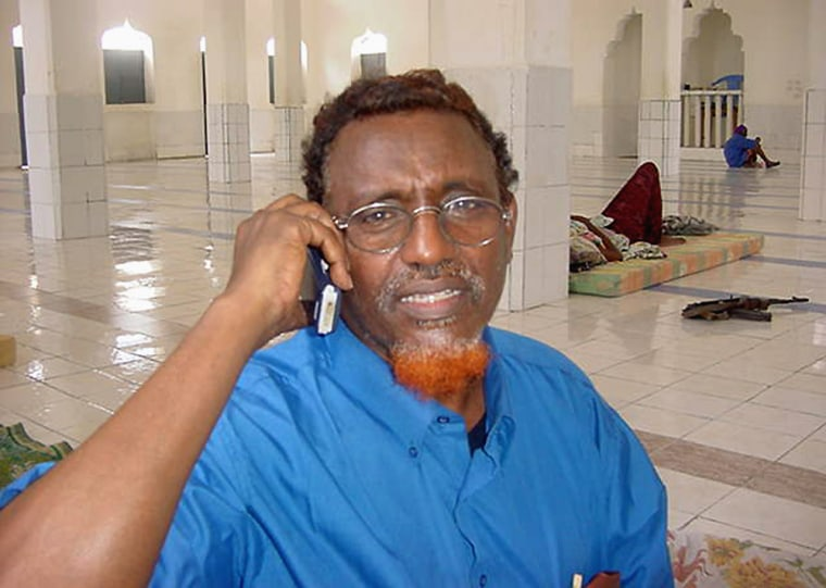Somalia fundamentalist leader Sheik Hassan Dahir Aweys speaks to the Associated Press on Wednesday during a telephone interview. The United States and the United Nations have placed him on international blacklists.
