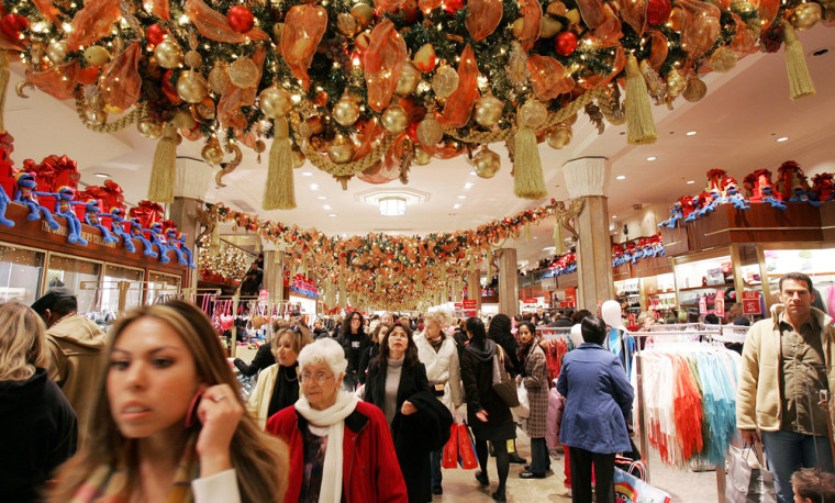 """Shoppers Brave The Crowds On \""""Black Friday\"""""""