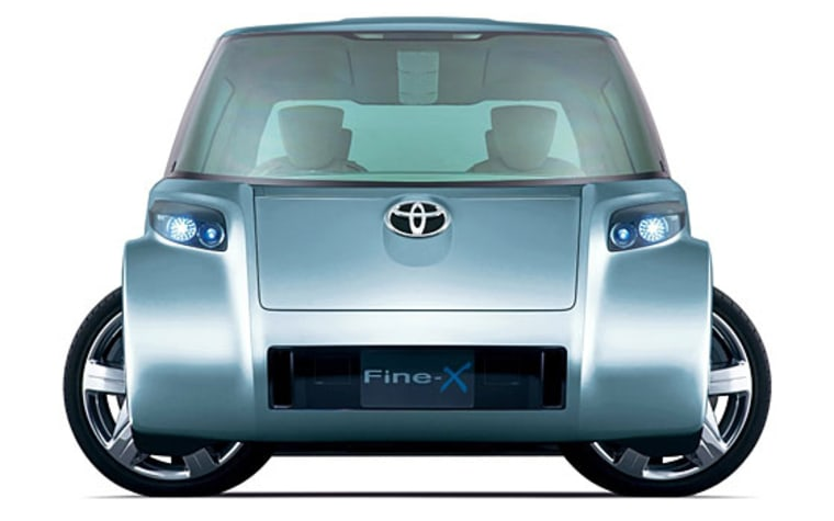 Toyota's Fine-X concept car, to be unveiled at next week's Tokyo motor show, is a fuel cell hybrid vehicle with electric motors housed in each of its four wheels.