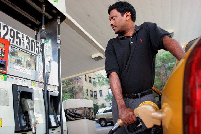 The report on consumer prices showed that energy prices shot up by 12 percent, led by a 17.9 percent surge in gasoline prices.
