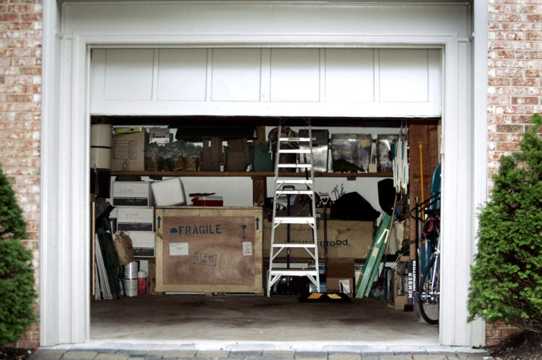 A view of White House Deputy Chief of Staff Karl Rove's garage, as seen on the morning of Oct. 13.