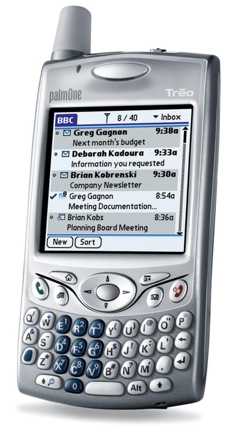 A Treo 650 running BlackBerry software.
