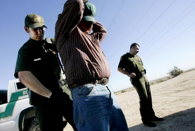 Border Patrol Units Work In Southern California