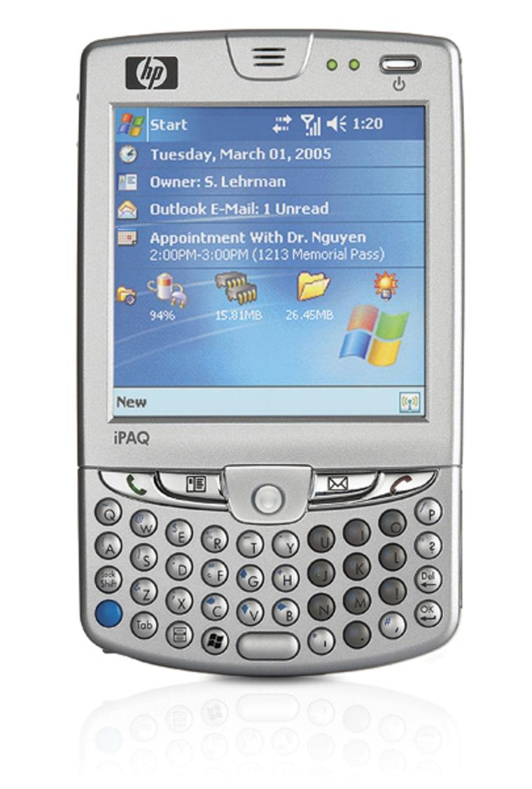 The new iPAQ hw6500 Windows Mobile smart phone.