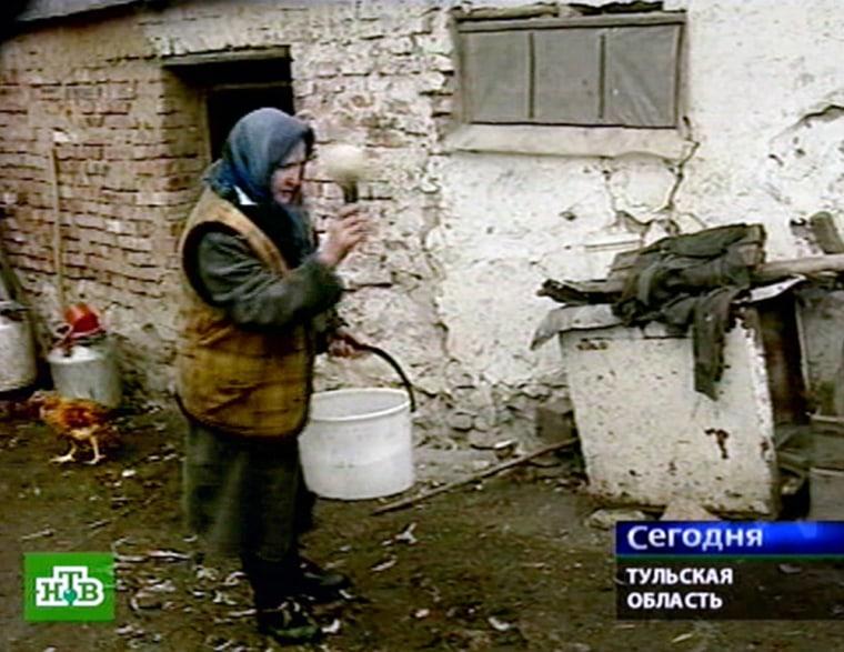 A TV grab from Russian NTV channel taken