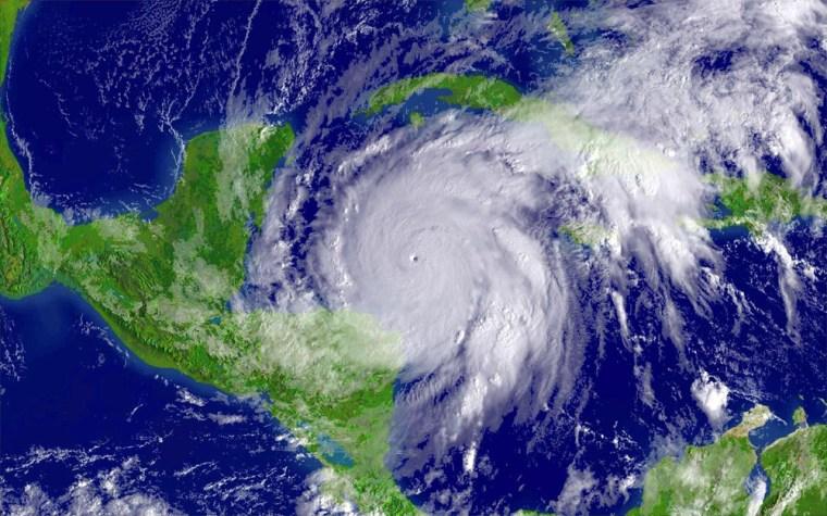 NOAA satellite image of Hurricane Wilma