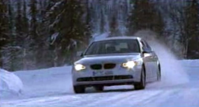 Acar fitted with 'all-wheel drive' swerves in tight turns to avoid snowballs in the latest BMW ad. Could it perform theseclever maneuvers without winter tires?