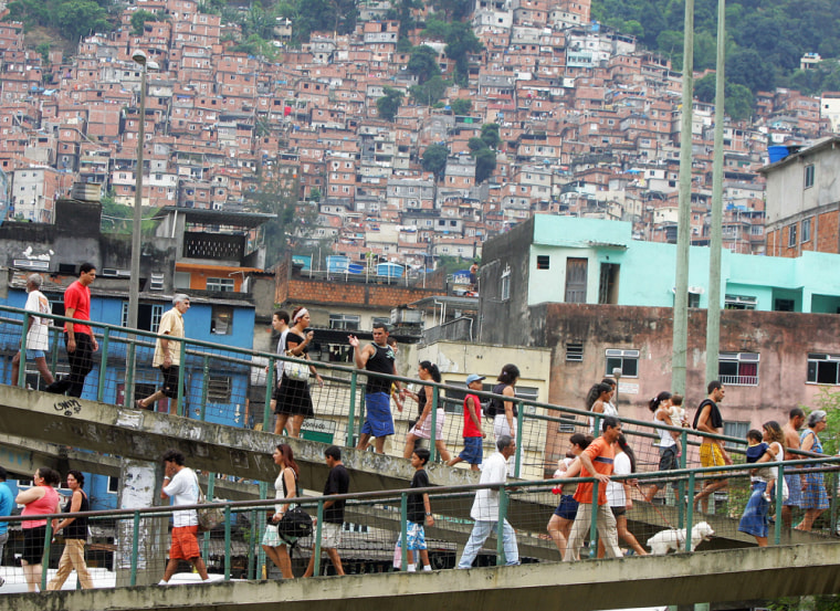 Residents of the Rocinha shantytown, the