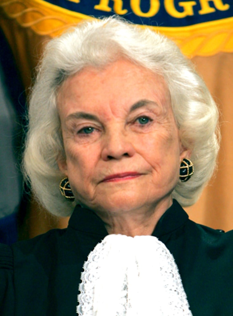 Supreme Court Justice Sandra Day O'Connor has said she will remain on the bench until a successor is confirmed.
