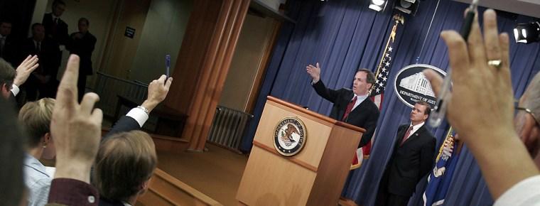 Patrick Fitzgerald Announces Indictments In CIA Leak Case