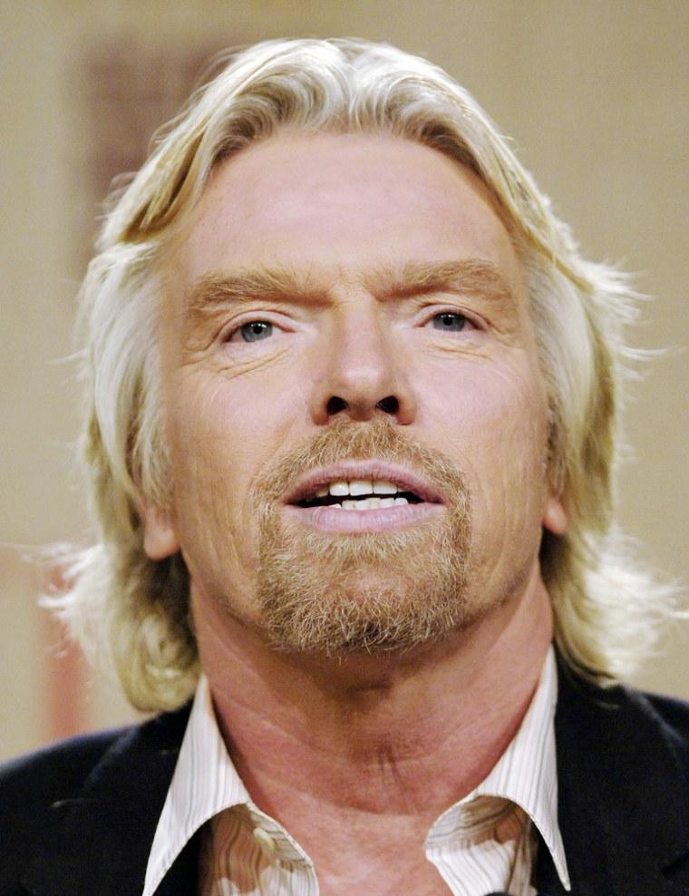 Sir Richard Branson, chairman Virgin Gro