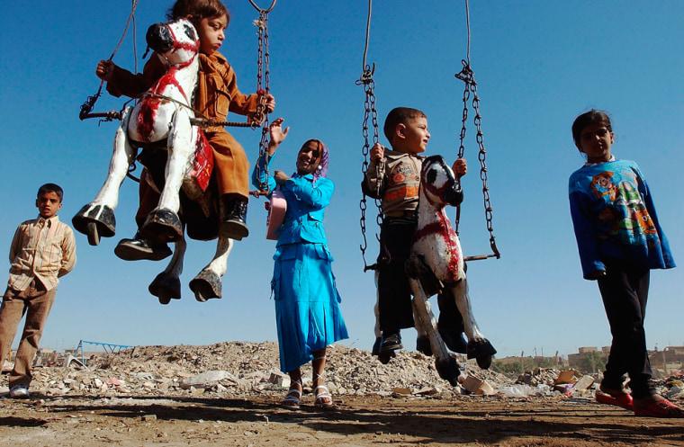 Iraqi Children Celebrate Eid Al-Fitr Holiday