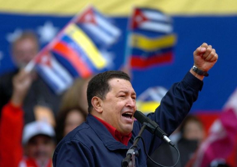 Venezuelan President Hugo Chavez address