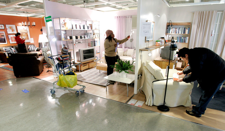 Shoppers look at merchandise at an Ikea store in Paramus, N.J. earlier this year. Ikeacurrently has 200 stores worldwide and is planning to open five stores a year in the U.S. over the next decade.