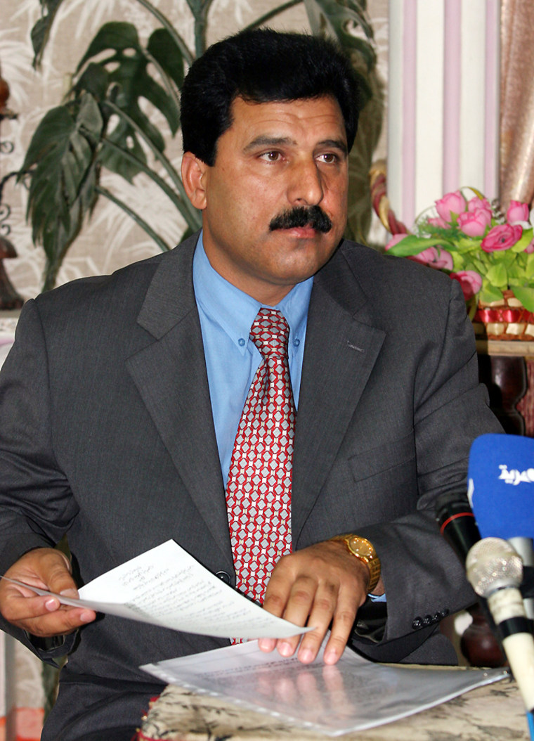 Khalil al-Dulaimi, head of Saddam Hussein's legal team, blamed the U.S.-ledcoalition for the slaying of a second colleague in the trial on Wednesday in Ramadi, Iraq.