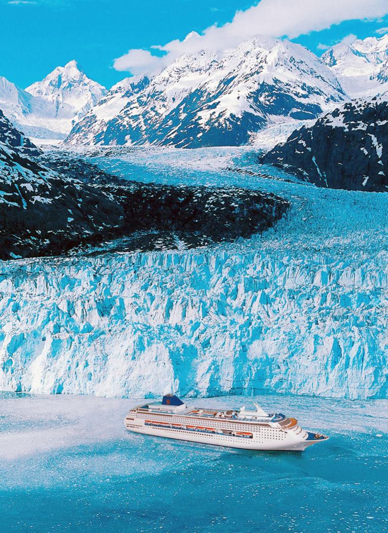 The Norwegian Sky cruise ship in Alaska.