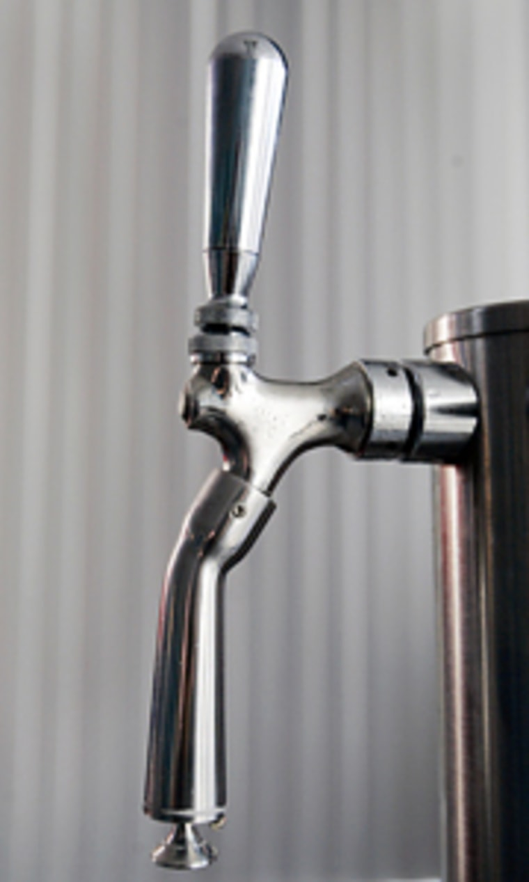 A Turbo Tap nozzle is designed to pour beer faster than a conventional tap and was invented by Matthew Younkle, who came up with the idea with partner Kristofer Dressler when they were students at the University of Wisconsin-Madison.