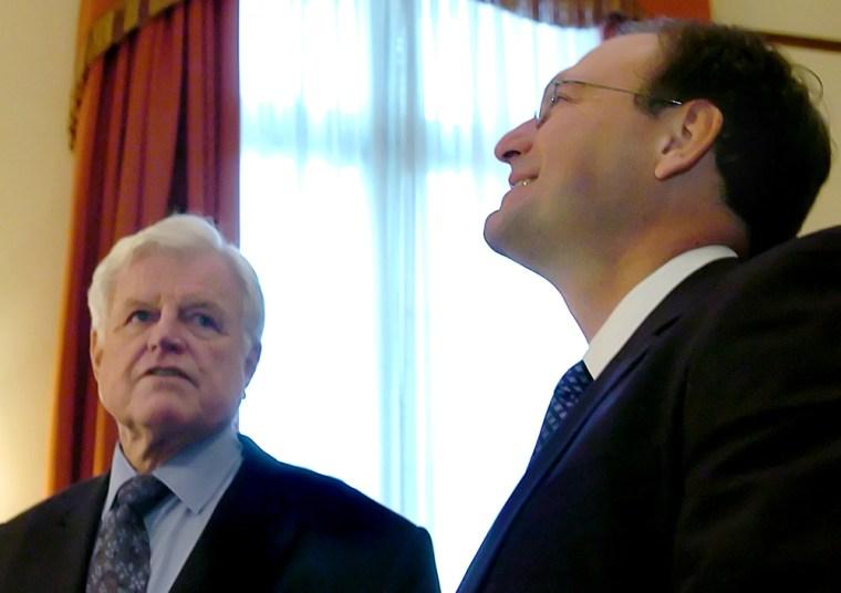 Supreme Court nominee Samuel Alito meets with Senator Edward Kennedy on Capitol Hill in Washington