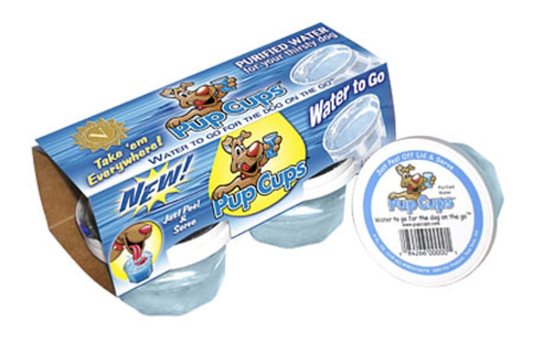 Pup Cups come in handy four-ounce servings, which means if you have anything bigger than a Yorkshire terrier, you'd better stock up.