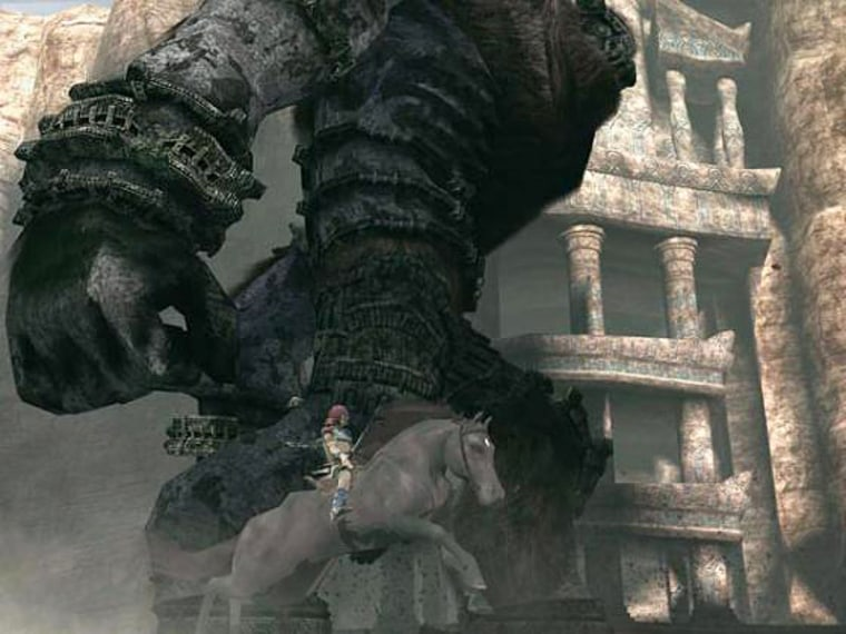 """In """"Shadow of the Colossus,"""" battles can take upward of 30 minutes -- and the giants are huge."""