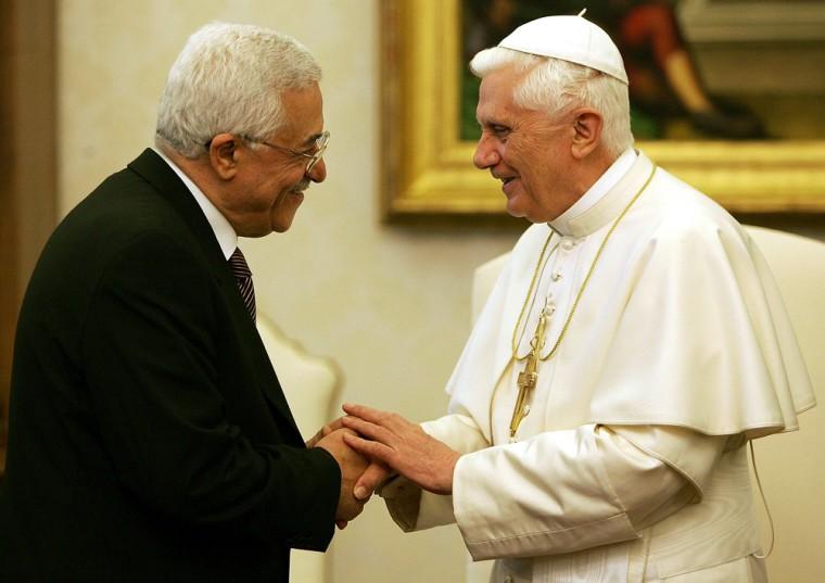 Pope Benedict XVI meets Palestinian lead