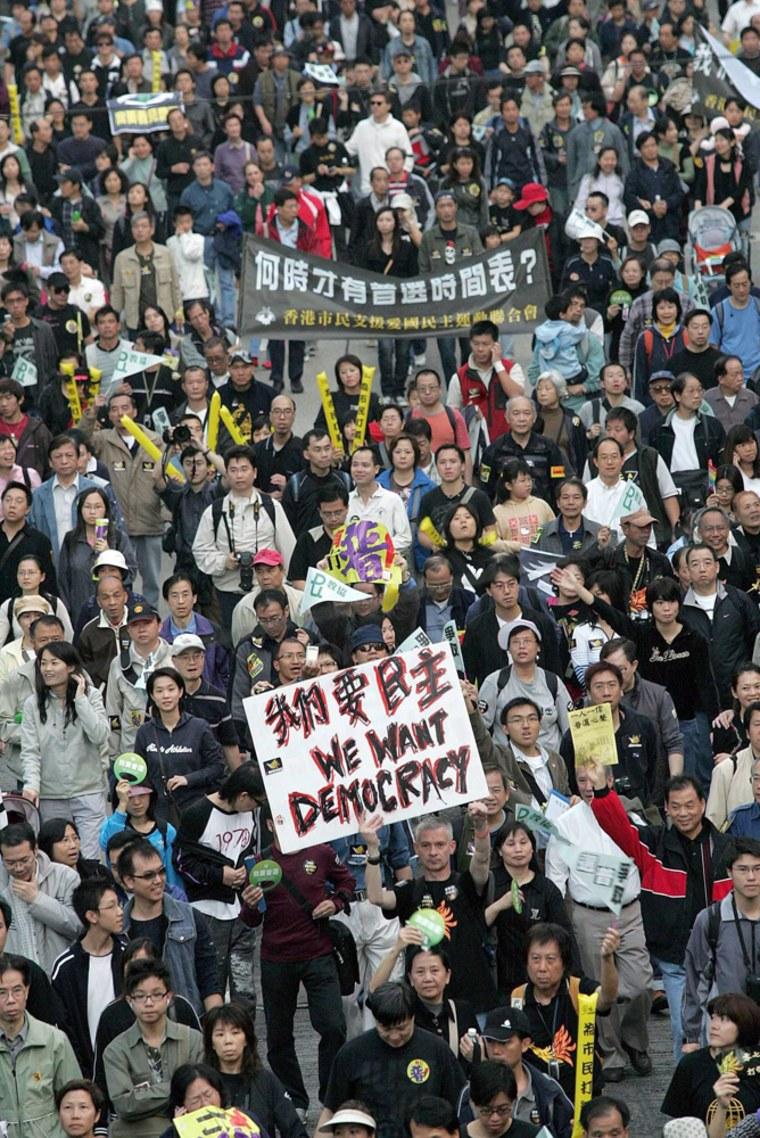 CHINA HONG KONG PROTEST