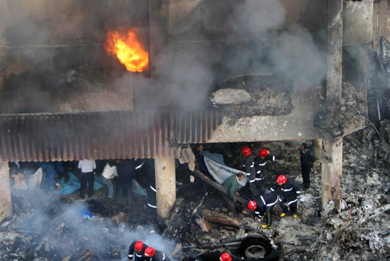 Military Plane Crashes Into Tehran Residential Area