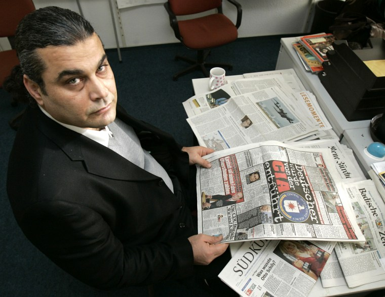 Khaled al-Masri, a German of Lebanese descent, reads Germany's Tuesdaynewspapers covering his allegedarrest and tortureby the CIA for suspected ties to the al-Qaida terrorist group.