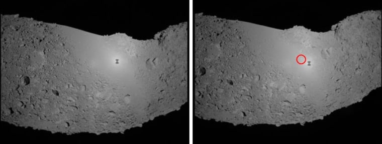 Combination photo shows asteroid Itokawa taken by Japanese space probe Hayabusa in outer space