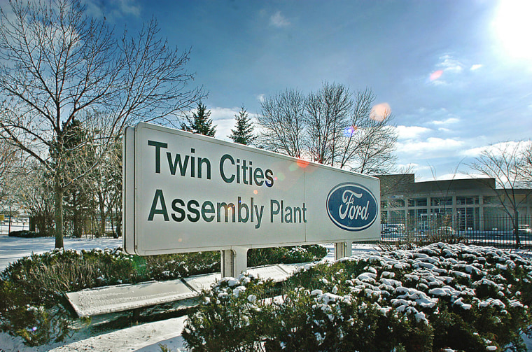 Snow covers the ground at Ford's Twin CitiesAssembly Plant in St. Paul, Minn. Ford's board of directors are meeting Wednesday and Thursdayto decide which plants it willcloseas part of a restructuring plan that is to be announced next month.
